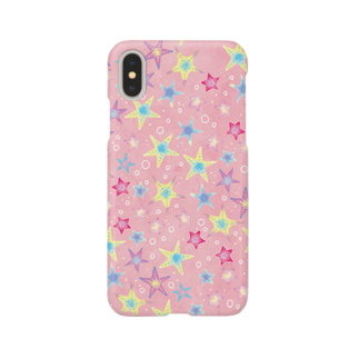 Fanfleecyのヒトデぎっしり柄(pink) Smartphone cases