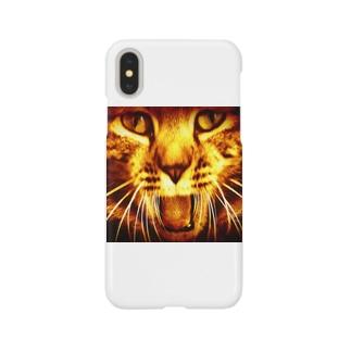 猫のポッキーくん(赤) Smartphone cases