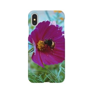 蜂と花 Smartphone cases