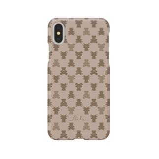 モノグラム(クマ) Smartphone cases