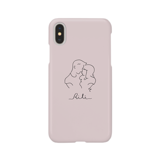 RiLiのtwo of a kind(ピンク) Smartphone cases