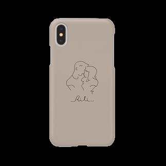 RiLiのtwo of a kind(ベージュ) Smartphone cases