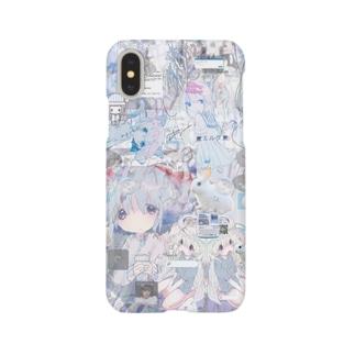 あんしん×リスカちゃん milk  Smartphone cases