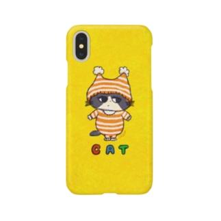 C A T ぼうしねこ Smartphone cases