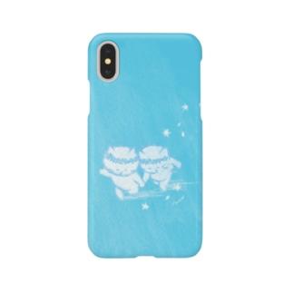 思い出(ブルー) Smartphone cases