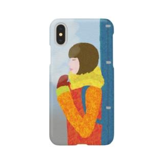 Snow Guitar Girl Smartphone cases