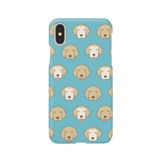 師匠と弟子の顔(ブルー) Smartphone cases