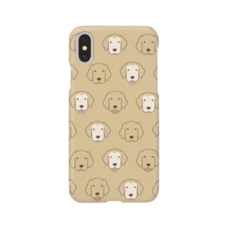 師匠と弟子の顔(イエロー) Smartphone cases