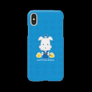 HAPPYDOG製作所@SUZURI支店のHAPPY DOG WORKS 武士犬_JAPAN Smartphone cases