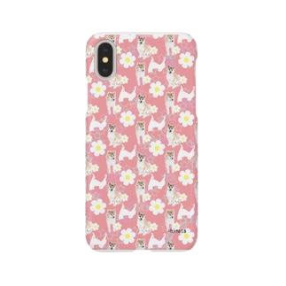 柴犬(ピンク) Smartphone cases