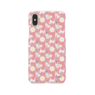 陽向の柴犬(ピンク) Smartphone cases