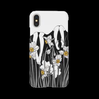 夜舟のきらやかな未明・白ケース Smartphone cases