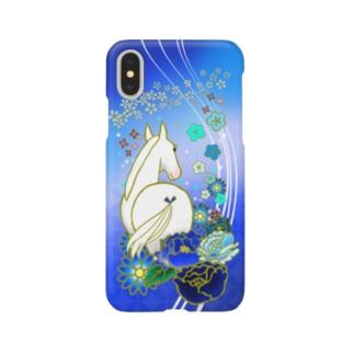 和なお馬(青) Smartphone cases