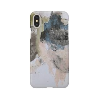 抽象画家ShizukiKagawaのさまーしゃどう Smartphone cases