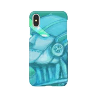 目からビーム(雷神紋) Smartphone cases
