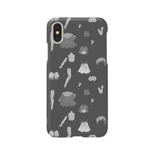 バラバラドールのテキスタイル モノクロ Smartphone cases