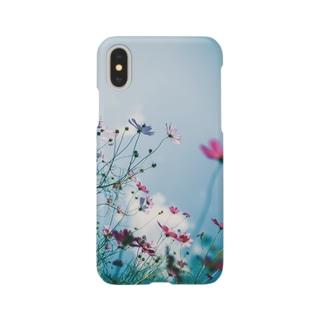 秋桜と秋空 Smartphone cases