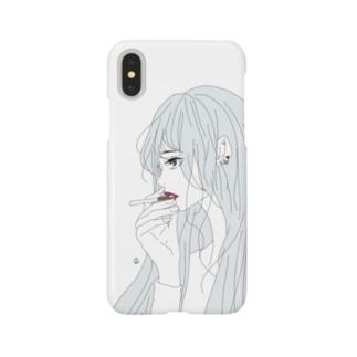 cigar(white) Smartphone cases