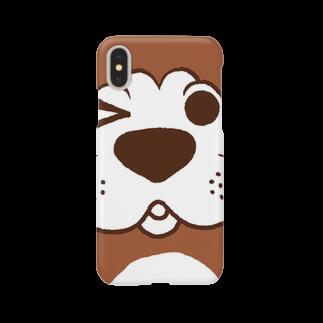 美桜(みお) イラストレーターの犬のぽんちゃん、ドアップ Smartphone cases