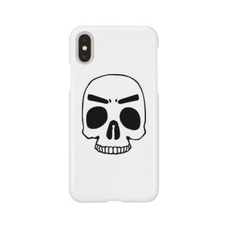 まゆ毛スカル Smartphone cases