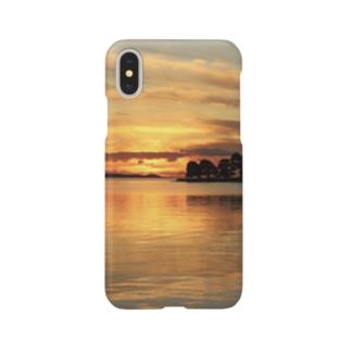 宍道湖の夕日 Smartphone cases