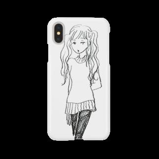 ててのお店のツインテールのおんなのこ Smartphone cases