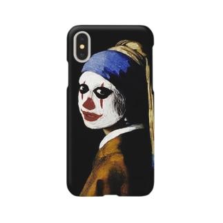 真珠の耳飾りのピエロ Smartphone cases