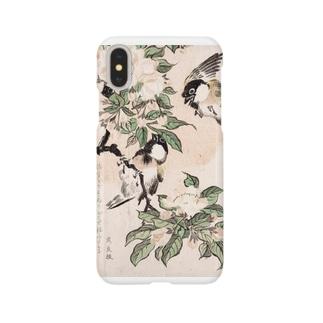 海棠に山雀 Smartphone cases