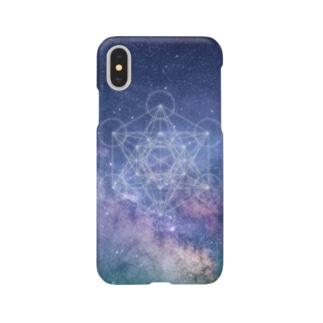 宇宙TEE001(神聖幾何学) Smartphone cases