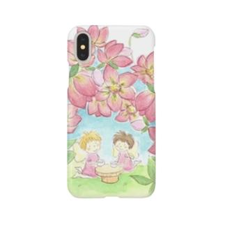 お花のお茶会クリスマスローズ Smartphone cases