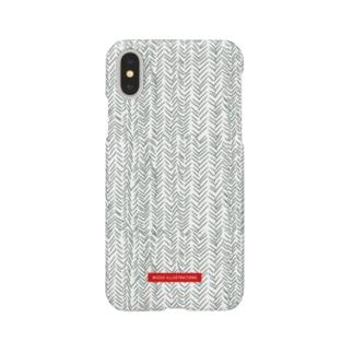 ヘリンボーン グリーン Smartphone cases
