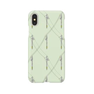 電信柱(Day) Smartphone cases