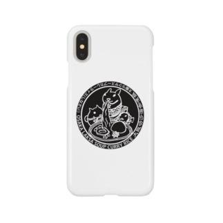 大阪ラクサスープカレーライスロゴ Smartphone cases