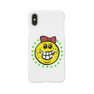笑い太郎リボン付き Smartphone cases