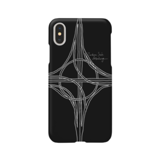 Rakushigeショップの ハーフタービン型インターチェンジ(黒) Smartphone cases