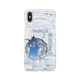 INGRESS RESISTANCE Samurai Blue 2 スマートフォンケース