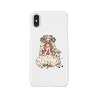 ひつじさん Smartphone cases