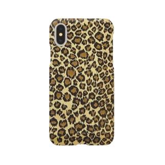 ヒョウ柄Aiphoneケース Smartphone cases