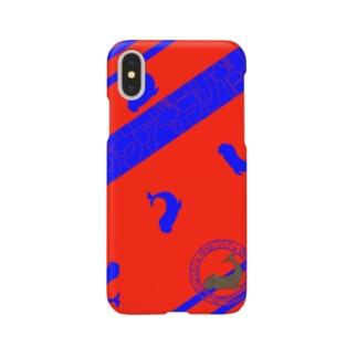 シャチホコじゃないよ、ゾウアザラシだよ 2 赤/青 Smartphone cases