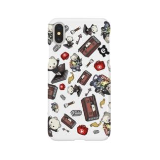 生存れぷくま総柄 iPhoneケース Smartphone cases
