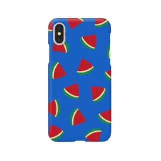 スイカいっぱい Smartphone cases