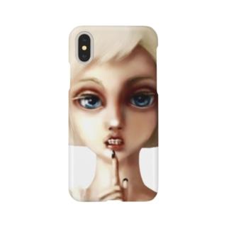 謎の女子 アルビノ Smartphone cases
