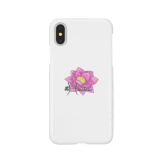 蓮(はちす) Smartphone cases