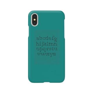 minimarism alphabet - green Smartphone cases