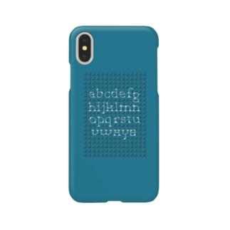 minimarism alphabet - blue Smartphone cases