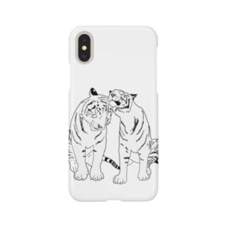 仲良しホワイトタイガー❤️ Smartphone cases