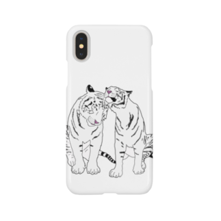 Zoo Keeperの仲良しホワイトタイガー❤️ Smartphone cases