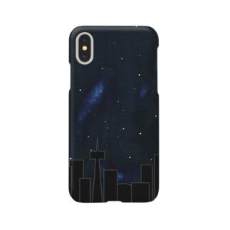 夜の街(宇宙) Smartphone cases