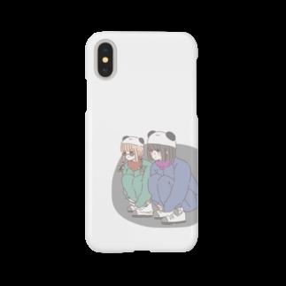 m'eの熊猫倶楽部 Smartphone cases