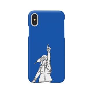 コバルトブルー スマートフォンケース